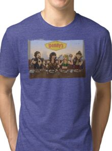 Xena and Friends at Denny's Tri-blend T-Shirt