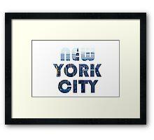 New York I love you Framed Print