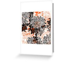 floral abstraction Greeting Card