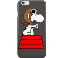 flying pilot snoopy fun iPhone Case/Skin