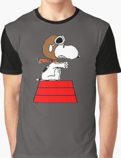 flying pilot snoopy fun Graphic T-Shirt