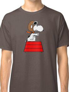 flying pilot snoopy fun Classic T-Shirt