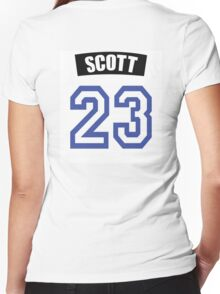 One Tree Hill Nathan Scott Jersey Women's Fitted V-Neck T-Shirt