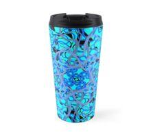 azure floral Travel Mug