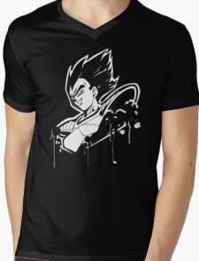 Vegeta Saiyan Mens V-Neck T-Shirt