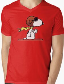 flying snoopy dom Mens V-Neck T-Shirt