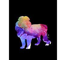 Watercolor Lion Photographic Print