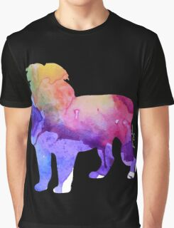 Watercolor Lion Graphic T-Shirt