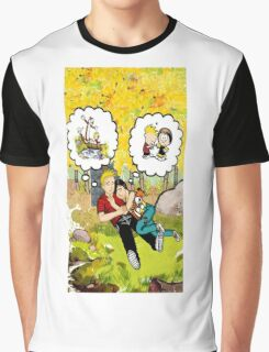 calvin dreaming with girl friends Graphic T-Shirt