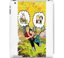 calvin dreaming with girl friends iPad Case/Skin