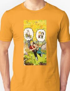 calvin dreaming with girl friends T-Shirt