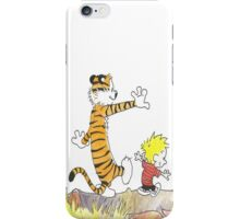 calvin hobbes back forest iPhone Case/Skin