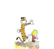 calvin hobbes back forest Photographic Print
