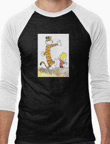 calvin hobbes back forest Men's Baseball ¾ T-Shirt