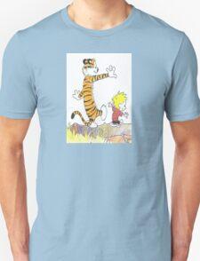 calvin hobbes back forest T-Shirt