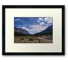 Remote and Lonely Valley Framed Print