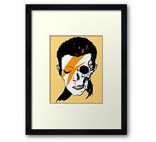 David Bowie Skull Original Aladdin Sane Artwork Framed Print