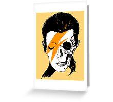 David Bowie Skull Original Aladdin Sane Artwork Greeting Card