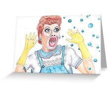 Lucille Ball - I Love Lucy Greeting Card