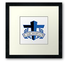 FCA - Air Force Academy Colors Framed Print