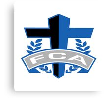 FCA - Air Force Academy Colors Canvas Print