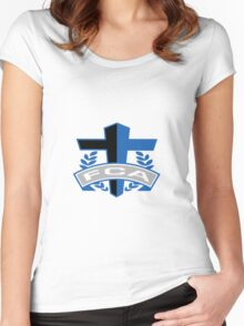 FCA - Air Force Academy Colors Women's Fitted Scoop T-Shirt