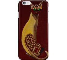 Celtic Cat in Burgundy iPhone Case/Skin