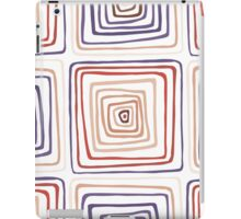 Abstract geometric pattern with squares iPad Case/Skin