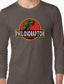 Philosoraptor Meme Funny Velociraptor Dinosaur T Shirt Long Sleeve T-Shirt