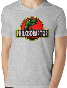 Philosoraptor Meme Funny Velociraptor Dinosaur T Shirt Mens V-Neck T-Shirt