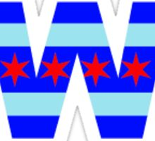 "Cubs Win ""W"" Flag Sticker"