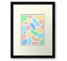 Paper Collage Art in Pastel Colours Framed Print