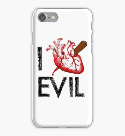 I Love to Stake Evil! iPhone Case/Skin