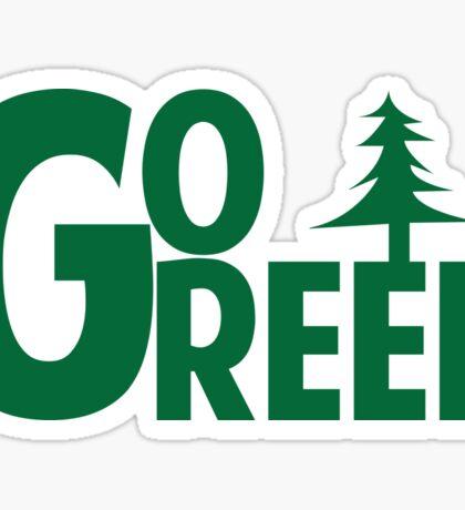 Go Green Tree Sticker