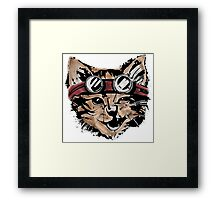 Punk Cat Framed Print