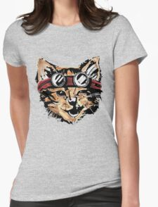 Punk Cat Womens Fitted T-Shirt