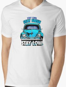 Stay Fresh and Stay Low Mens V-Neck T-Shirt