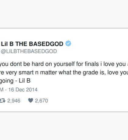 Lil B Tweet - finals Sticker