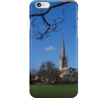 Across the Sports Field; Norwich Cathedral iPhone Case/Skin