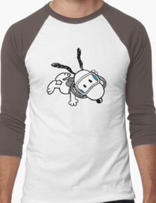 snoopy swimming Men's Baseball ¾ T-Shirt