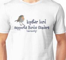 Hipster Bird for Birdie Sanders Unisex T-Shirt