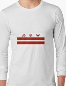 Washington DC Sports Teams Flag Long Sleeve T-Shirt