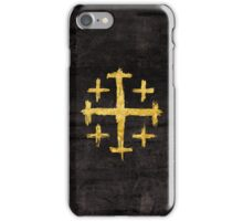 Crusader's Cross - Gold Edition iPhone Case/Skin