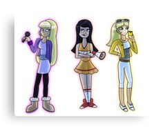 Rich and Popular Cartoon Girls Canvas Print