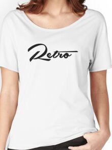 Retro - Black Women's Relaxed Fit T-Shirt