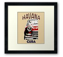 American Classic Car in Havana Cuba. Cuban t Shirt.Classic car Tee  Framed Print