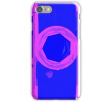 YASHICA Illustration Pink & Blue iPhone Case/Skin