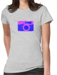 YASHICA Illustration Pink & Blue Womens Fitted T-Shirt