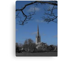 Norwich Cathedral; Framed Canvas Print