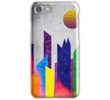 Summer Night City Colorful Trendy Flat Geometric Landscape iPhone Case/Skin